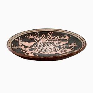 Cuenco danés vintage de cerámica esmaltada de Ivy Lysdal