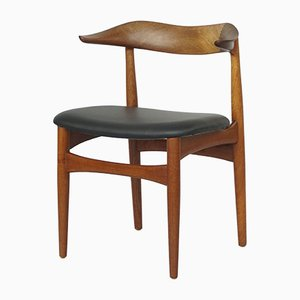 Mid-Century Cow Horn Dining Chair by Knud Færch
