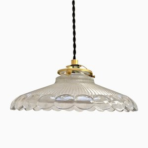 Mid-Century Streaked Glass Ceiling Lamp from Holophane