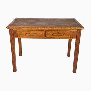 Schreibtisch aus heller Eiche von Abbess, 1950er