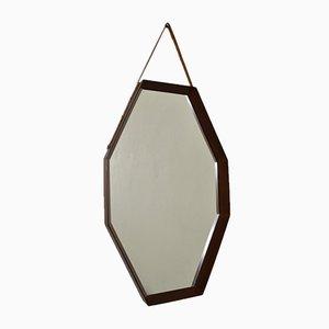 Spiegel mit Rahmen aus Teak, 1960er