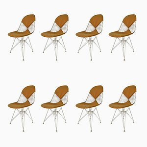 DKR Bikini Chairs by Charles & Ray Eames, 1950s, Set of 8