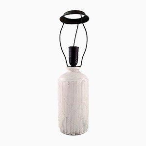 Glasierte dänische Tischlampe aus Steingut von Svend Hammershøi von Kähler, 1930er