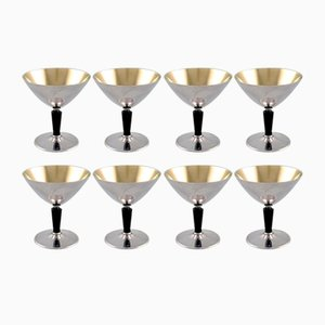 Vintage Cocktail Glasses Set by Folke Ahlström for GAB, Set of 8