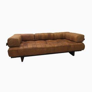 Sofá cama modelo DS80 de retales de cuero coñac de Sede, 1972