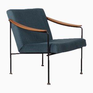Waldgrüner niederländischer Sessel mit Gestell aus Teak, 1960er