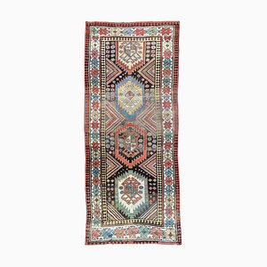 Antique Antique Caucasian Gendje Runner, 1900s