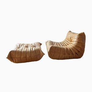 Lounge Chair and Pouf by Michel Ducaroy for Ligne Roset, 1990s, Set of 2
