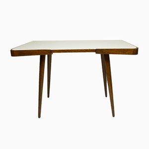 Table Basse en Verre Blanc par Jiří Jiroutek pour Interier Praha, 1960s