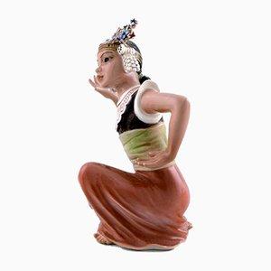 Vintage Modell 1323 Porzellan Tänzerin Figur von Dahl Jensen