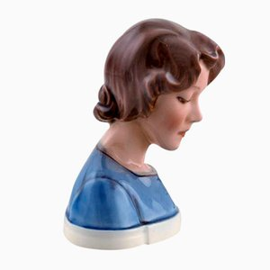 Vintage Model 1251 Porcelain Bust Figurine by Dahl Jensen