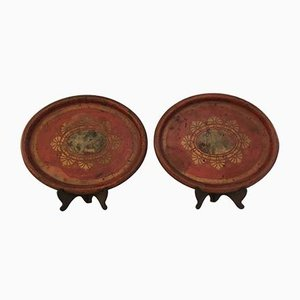 Antique Iron Trays, Set of 2