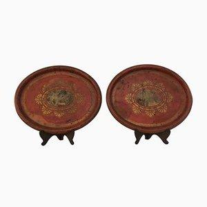 Vassoi antichi in ferro, set di 2
