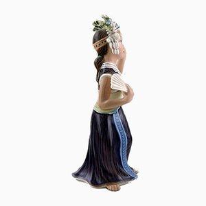 Vintage Model 1322 Aju Sitra Porcelain Figurine by Dahl Jensen