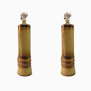 Lámparas de mesa vintage de Olle Alberius para Rörstrand, años 60. Juego de 2