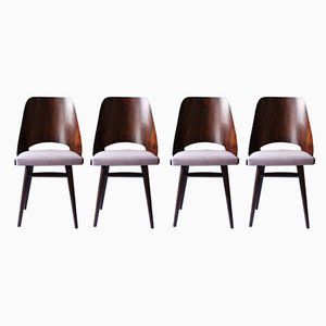 Mid-Century Dining Chairs by Radomir Hofman for TON, Set of 4