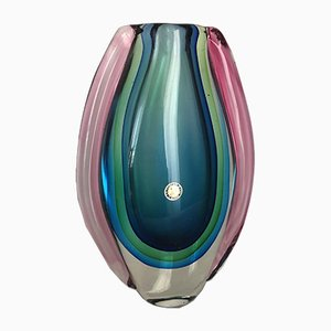 Murano Glass Vase by Ca foscari, 1960s