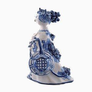 Statuetta M11 vintage in ceramica di Bjørn Wiinblad, 2002