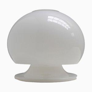 Lámpara de mesa champiñón italiana de color blanco, años 50