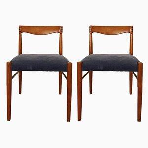 Esszimmerstühle mit Gestell aus Teak von H.W. Klein für Bramin, 1960er, 2er Set