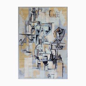 Alfombra La Paloma con guisantes de Pablo Picasso para Desso, años 90
