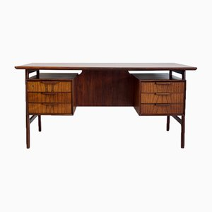 Rosewood Model 75 Desk from Omann Jun, 1960s