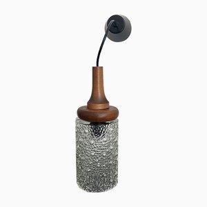 Deckenlampe aus Holz & Sideglas, 1960er