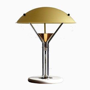 Italienische Vintage Tischlampe aus Messing & Chrom