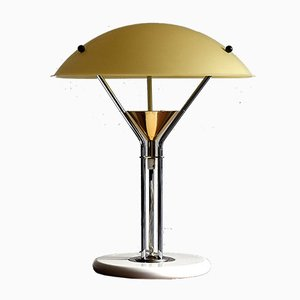Vintage Italian Brass and Chrome Table Lamp