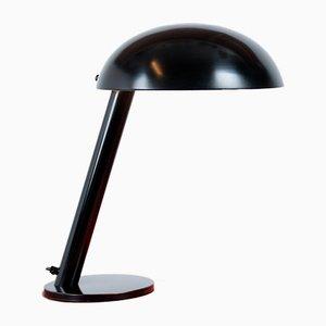 Lámpara de mesa en negro de H. Th. JA Busquet para Hala, años 80