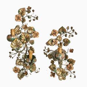 Apliques italianos de cristal de Murano de Sergio Mecchini, años 70. Juego de 2