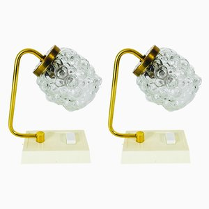 Vintage Bubble Glass Table Lamps, 1970s, Set of 2