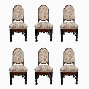 Esszimmerstühle mit Gestell aus Buche, 1940er, 6er Set