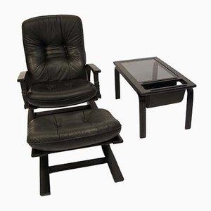 Sessel, Fußhocker & Tisch von Ingmar Relling für Westnofa, 1960er