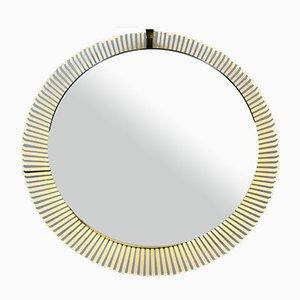 Runder beleuchteter Mid-Century Spiegel von Stilnovo