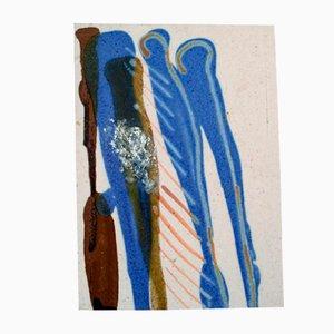 Pannello decorativo in ceramica di Ivy Lysdal, Danimarca, anni '70