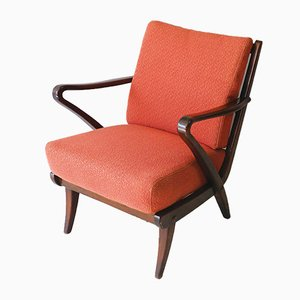 Mid-Century Belgian Lounge Chair, 1940s