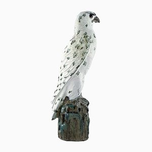 Icelandic Pottery Falcon Sculpture by Gudmundur Mar Einarsson, 1940s