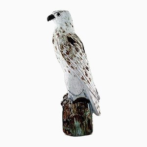 Escultura Falcon islandés de cerámica de Gudmundur Mar Einarsson, años 40