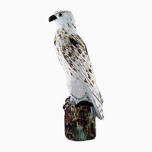 Isländische Falken Keramikskulptur von Gudmundur Mar Einarsson, 1940er