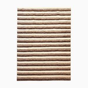 Cremefarbener handgewebter Kelim Teppich aus Wolle & Baumwolle, 1970er