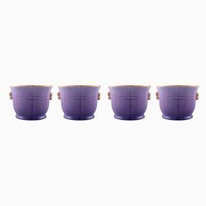 Pots Vintage par Louise Adelborg pour Rörstrand, Suède, Set de 4