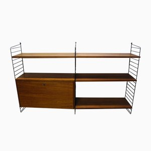 Mid-Century Teak Shelf by Strinning, Kajsa & Nils ''Nisse'' for String