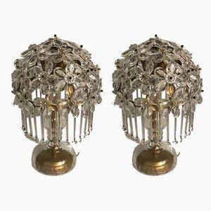 Lámparas de mesa de cristal de Murano, años 50. Juego de 2