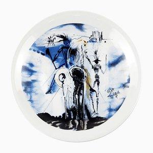 Piatto in porcellana di Salvador Dali per Porcelanas de Salvador Dali, anni '70