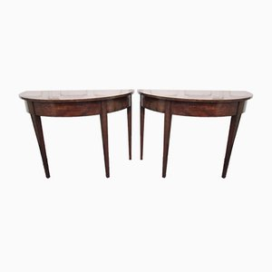 Antique Mahogany Console Tables, Set of 2