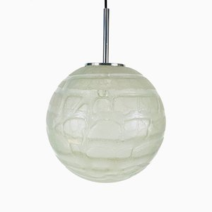 Large Vintage Glass Pendant Lamp from Doria Leuchten, 1970s