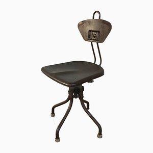 Chaise d'Atelier Pivotante M42 Industrielle par Henri Liber pour Flambo, 1930s