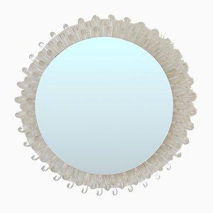 Italienischer Spiegel mit Rahmen aus Plexiglas, 1970er