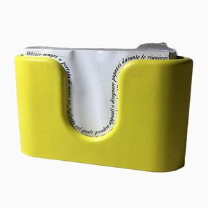 Yellow Paper Holder by Albert Leclerc for Olivetti, 1968
